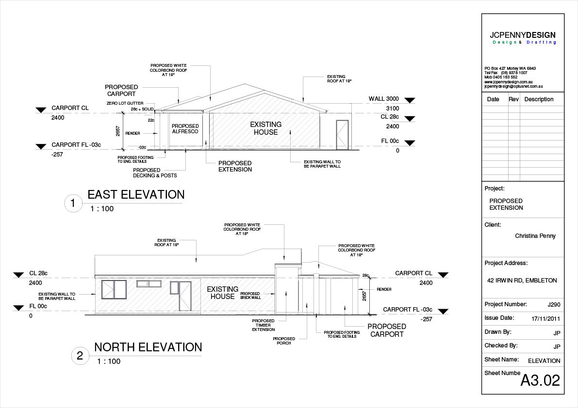 Irwin home renovation drawings drafting plans for Renovation drawings
